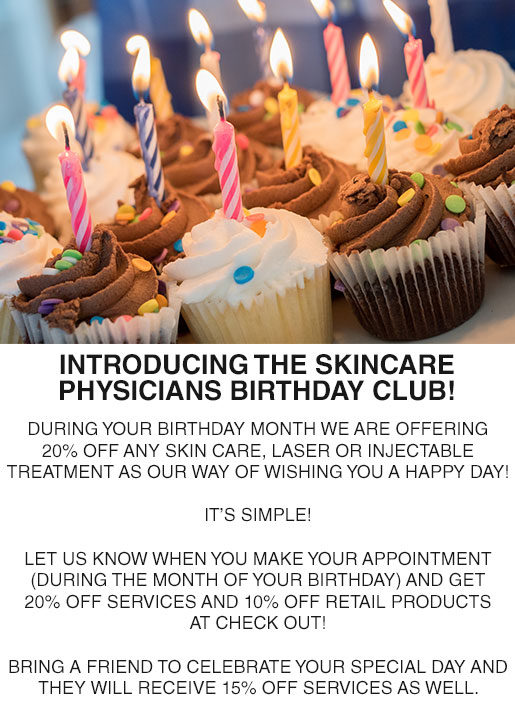 Skincare Physicians Birthday Club Discounts